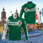 Customize Mexico Map & Coat Of Arms All Over Print Neck Gaiter Hoodie