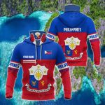 Customize Philippines Coat Of Arms Style All Over Print Neck Gaiter Hoodie