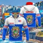 Customize Puerto Rico Coat Of Arms Style All Over Print Neck Gaiter Hoodie