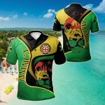 Jamaica - Jamaican Lion with Coat Of Arms All Over Print Polo Shirt