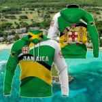 Jamaica Style All Over Print Neck Gaiter Hoodie