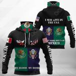 America My Home - Mexico My Blood Eagle All Over Print Neck Gaiter Hoodie