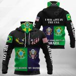 America My Home - Brazil My Blood Eagle All Over Print Neck Gaiter Hoodie
