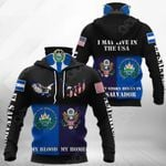 America My Home - El Salvador My Blood Eagle All Over Print Neck Gaiter Hoodie