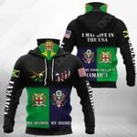 America My Home - Jamaica My Blood Eagle All Over Print Neck Gaiter Hoodie
