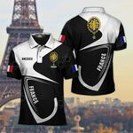 Customize France Coat Of Arms & Flag All Over Print Polo Shirt