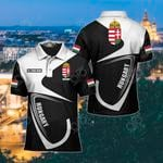 Customize Hungary Coat Of Arms & Flag All Over Print Polo Shirt