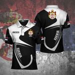Customize Serbia Coat Of Arms & Flag All Over Print Polo Shirt