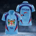Customize Fiji Map & Coat Of Arms All Over Print Polo Shirt