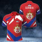 Serbia New Design All Over Print Polo Shirt