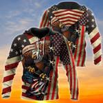 Eagle US Veteran All Over Print Shirts