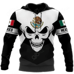 Mexico Coat Of Arms Skull All Over Print Shirts