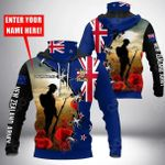 Customize New Zealand Army All Over Print Neck Gaiter Hoodie