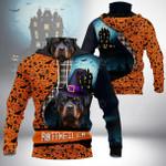 Rottweiler Halloween All Over Print Neck Gaiter Hoodie