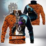 Boxer Halloween All Over Print Neck Gaiter Hoodie