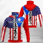 America My Home Puerto Rico My Blood All Over Print Neck Gaiter Hoodie