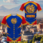 Armenia Coat Of Arms Style All Over Print T-shirt