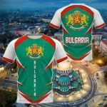 Bulgaria Coat Of Arms Style All Over Print T-shirt