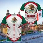 Mexico Coat Of Arms Style All Over Print T-shirt