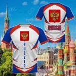 Russia Coat Of Arms Style All Over Print T-shirt