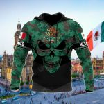 Mexico Skull Camo & Coat Of Arms All Over Print Shirts