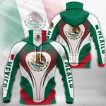 Mexico Coat Of Arms & Flag All Over Print Neck Gaiter Hoodie