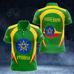 Customize Ethiopia Map & Coat Of Arms All Over Print Polo Shirt