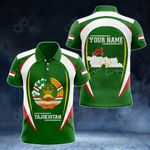Customize Tajikistan Map & Coat Of Arms All Over Print Polo Shirt