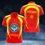 Customize Kyrgyzstan Map & Coat Of Arms All Over Print Polo Shirt
