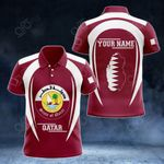 Customize Qatar Map & Coat Of Arms All Over Print Polo Shirt