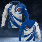 Finland Coat Of Arms - Whirlpool Style HD All Over Print Hoodies