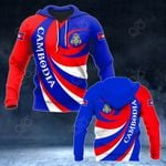 Cambodia Coat Of Arms - Whirlpool Style HD All Over Print Hoodies