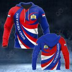Netherlands Coat Of Arms - Whirlpool Style HD All Over Print Hoodies