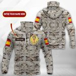 Customize Spanish Army All Over Print Neck Gaiter Hoodie