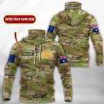 Customize Australian Army All Over Print Neck Gaiter Hoodie