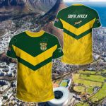 South African Rising King Protea Yellow All Over Print T-shirt