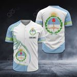 Customize Argentina Coat Of Arms New Style All Over Print Baseball Jersey Shirt