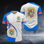 Customize Puerto Rico Coat Of Arms New Style All Over Print Baseball Jersey Shirt