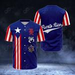 Puerto Rico - Boriken All Over Print Baseball Jersey Shirt