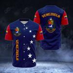Venezuela Coat Of Arms All Over Print Baseball Jersey Shirt