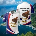 American Samoa - Arch Style All Over Print Polo Shirt