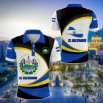 El Salvador Strong Flag All Over Print Polo Shirt