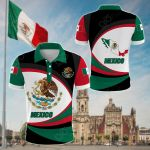 Mexico Strong Flag All Over Print Polo Shirt