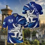 Scottish The Lion Rampant Of Scotland All Over Print Polo Shirt