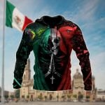 Mexican Aztec Skull All Over Print Shirts