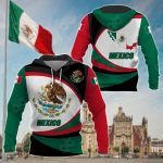 Mexico Strong Flag All Over Print Shirts