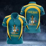 Customize The Bahamas & Coat Of Arms All Over Print Polo Shirt