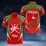 Customize Oman Map & Coat Of Arms All Over Print Polo Shirt