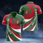Hungary Coat Of Arms - Whirlpool Style All Over Print Polo Shirt