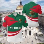 Mexico Proud Version All Over Print Polo Shirt